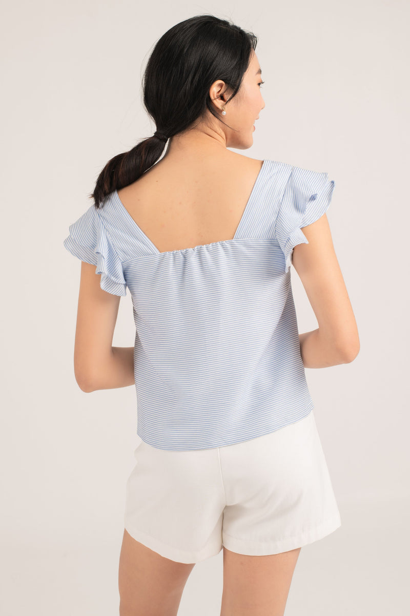Joey Ruffle Top