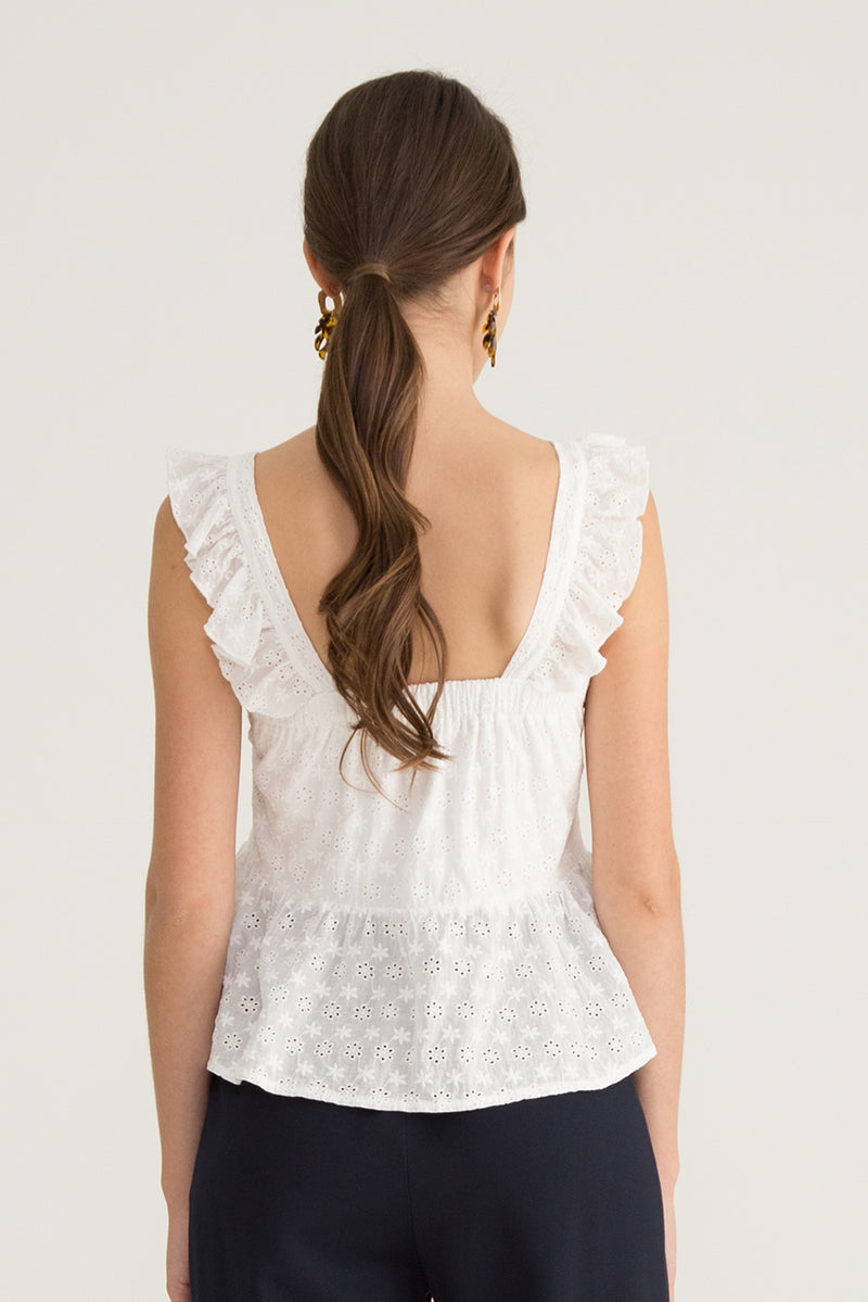 Rhiny Lace Ruffle Top