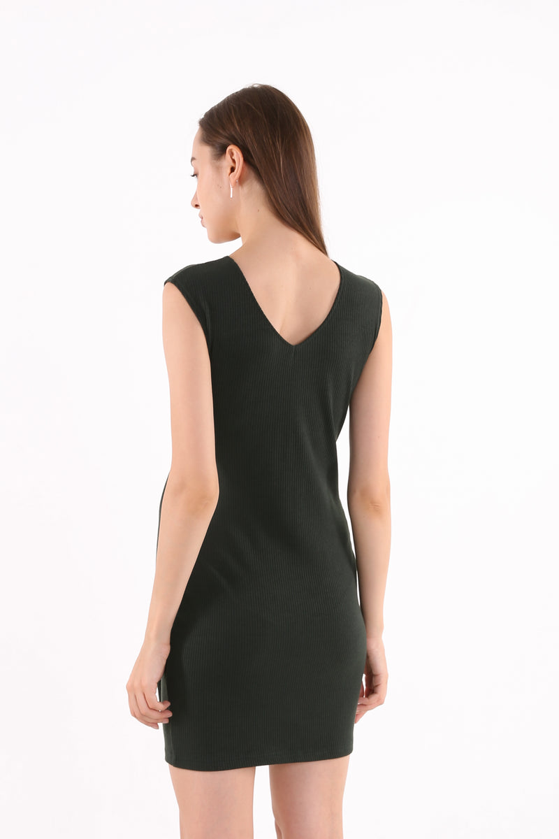 Branda Knit Tie-front Dress
