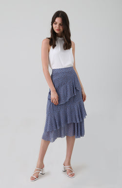 Lilika Printed Ruffled Tiered Skirt