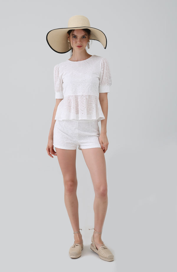 Ria Broderie Anglaise Lace Top
