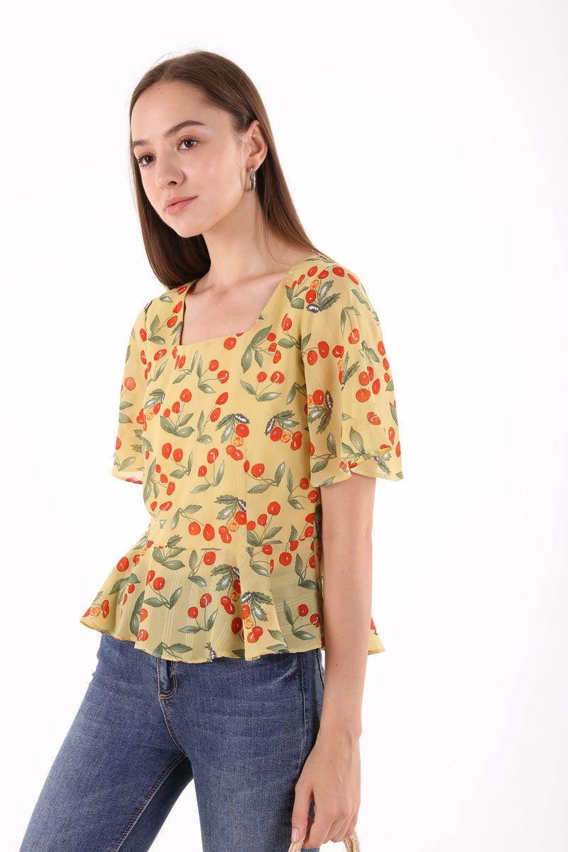 Daria Printed Floral Top
