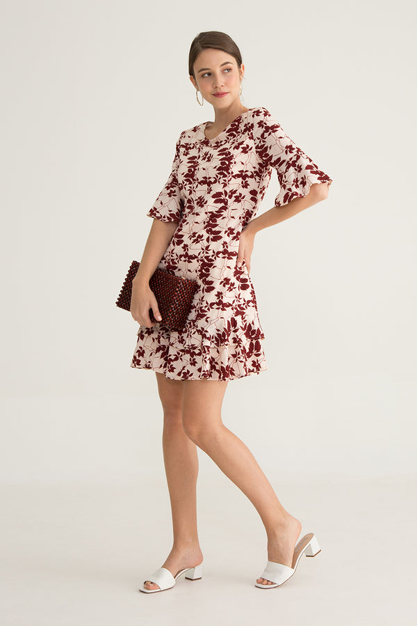 Ginnette Ruffle Midi Dress