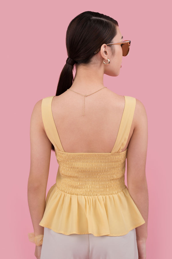 Lisa Ruffle Top in Yellow