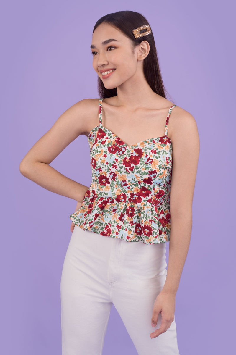 Judy Sleeveless Ruffle Top