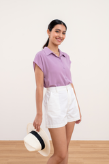 Beverly Buttoned Down Shirt in Lilac