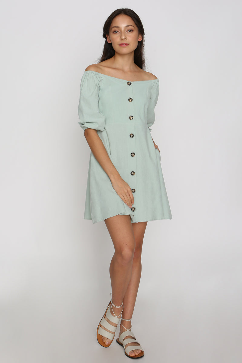 Andrina Balloon Sleeve Dress