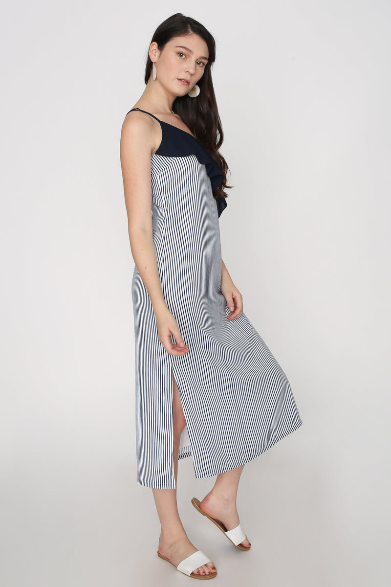 Aria Contrast Striped Maxi