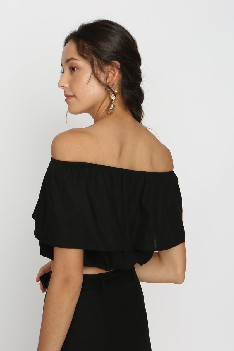 Aurelia Linen Off Shoulder Top