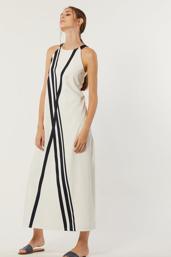 Kahna Contrast Maxi Dress