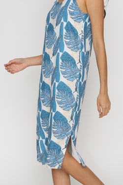 Effy Tropical Print Shift Midi