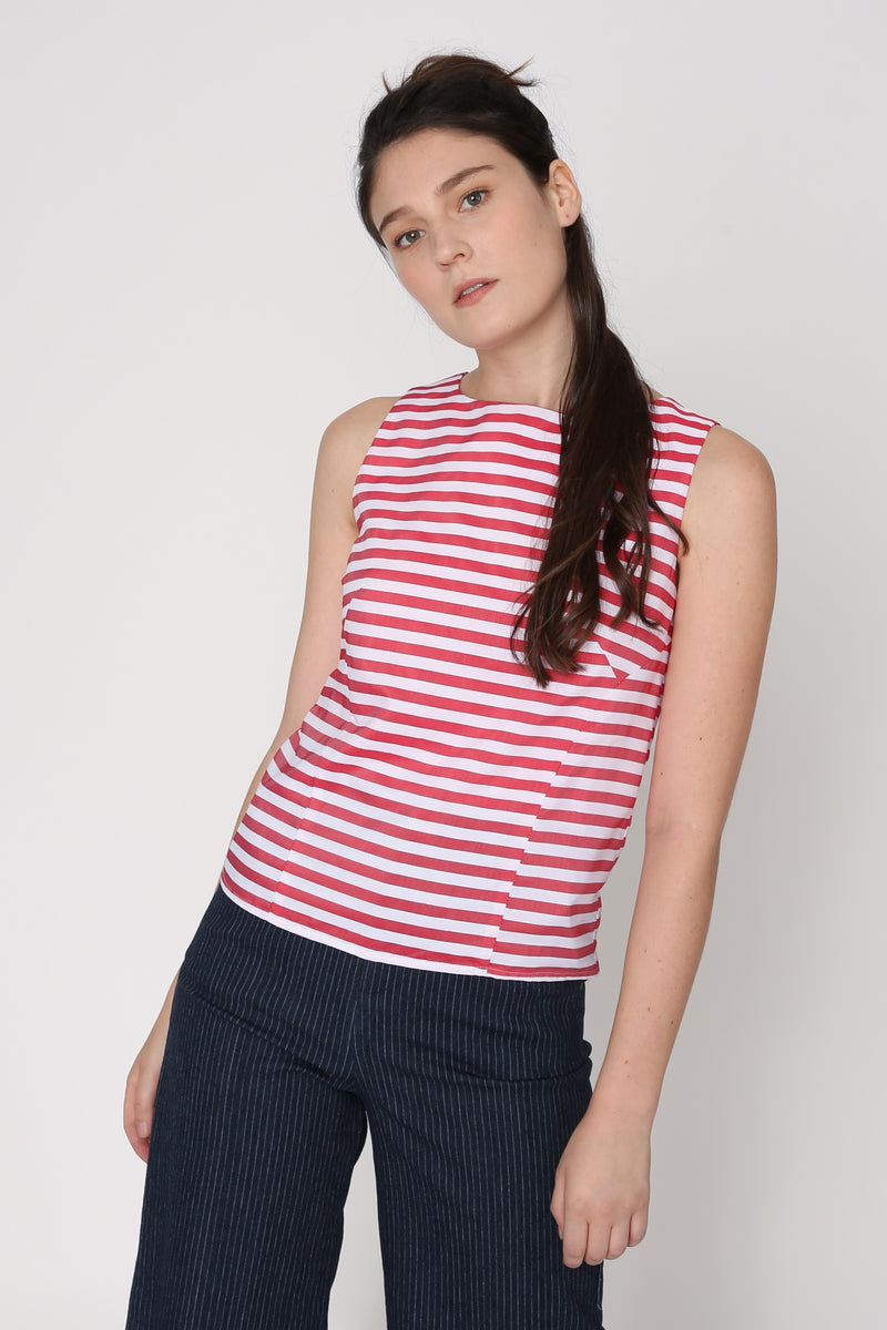 Elisha Striped Shift Top