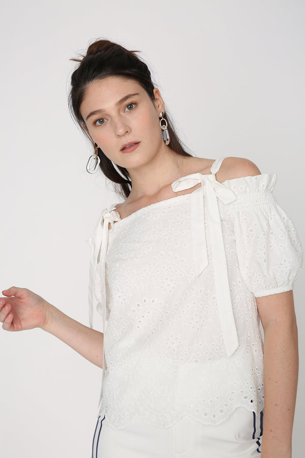 Emily Off-Shoulder Lace Top