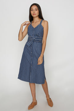 Faye Denim Button Down Midi