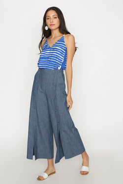 Gabriella Denim Button Down Culottes