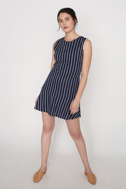 Jael Striped Dropwaist Dress
