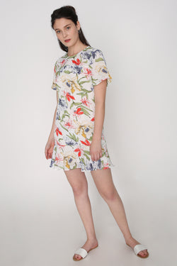Janet Floral Waisted Dress