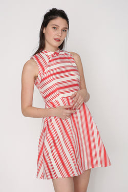Jolynn Striped Cheongsam