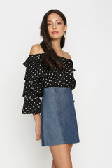 Julienne Polka Dot Layered Top