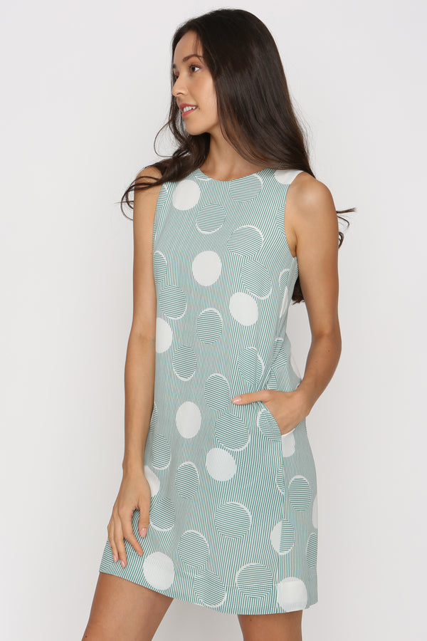 Mardy Printed Shift Dress