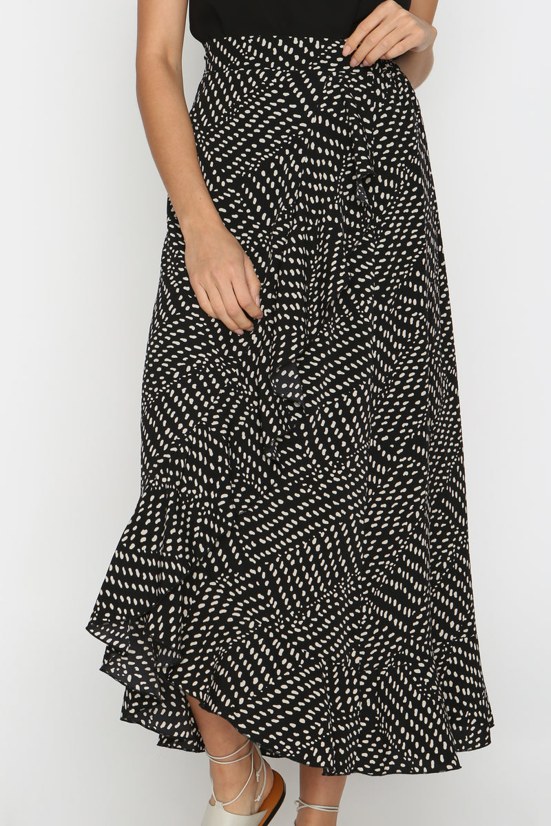 Nora Stippled Maxi Skirt