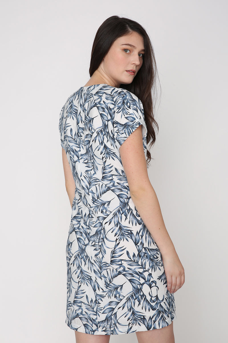 Quinn Sleeved Tropical Print Dress