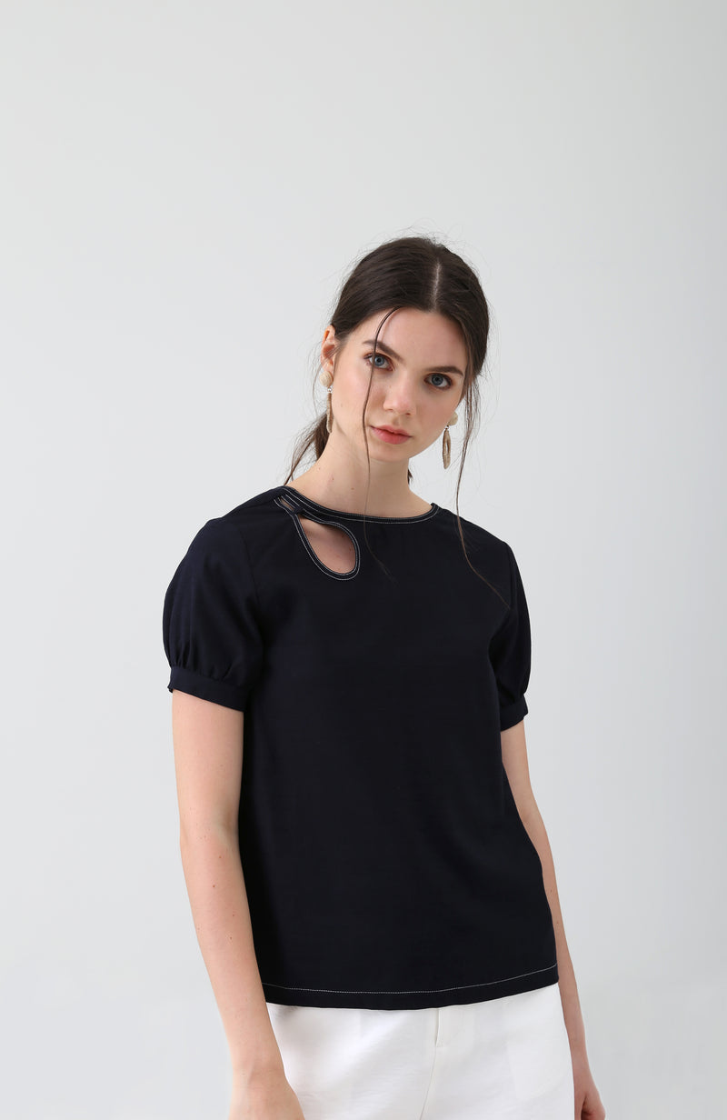 Aggie Keyhole Cut Out Top