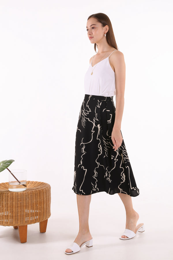 Daryna Printed Wrap Midi Skirt