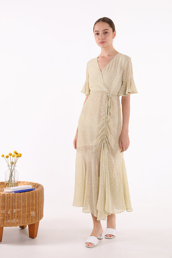 Caline Ruched Maxi Dress