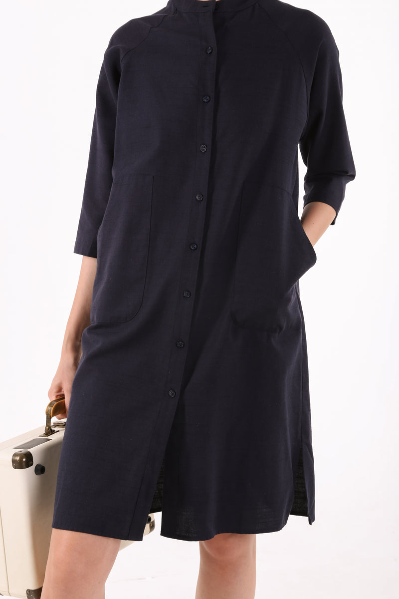 Meira Buttoned Down Shirtdress