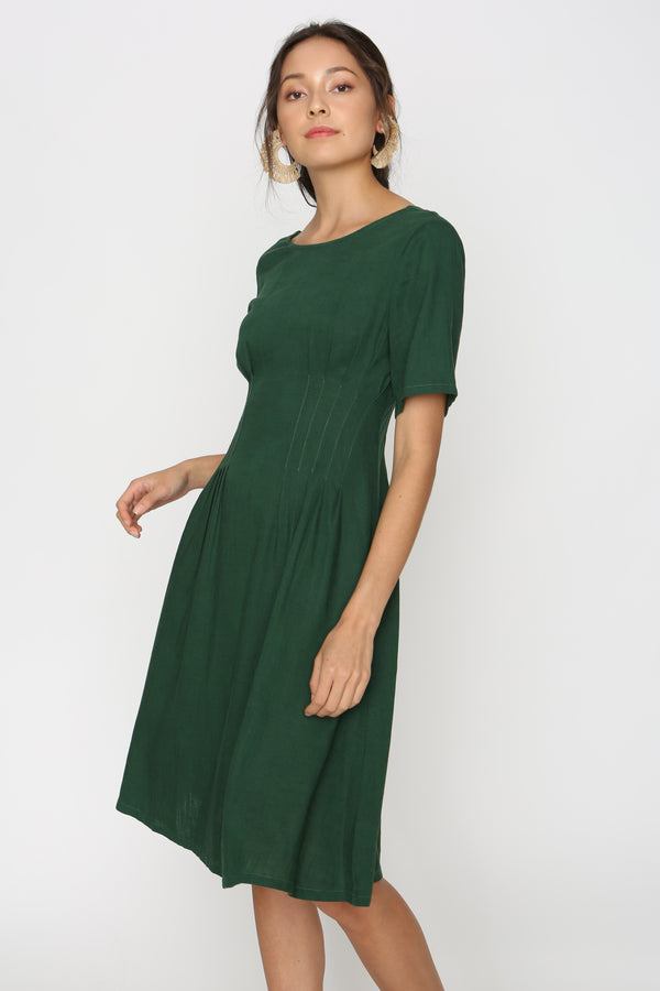 Shania Linen Tea Dress