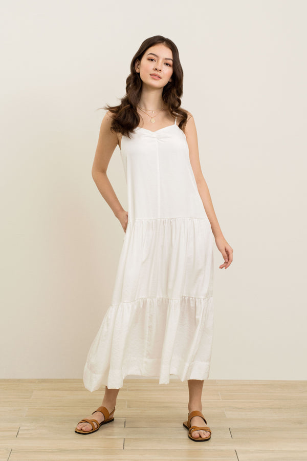 Sarah Slip Dress In White