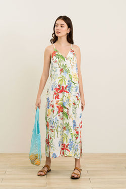 Cornie Printed Maxi Slip Dress