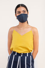 Yotto Mask 2.0 with Washable Bag in Navy, Adult Size