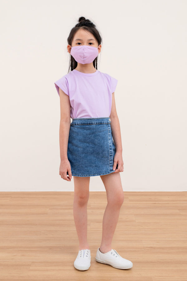(Pre Order) Yotto Mask 2.0 with Washable Bag in Lilac, Kids Size