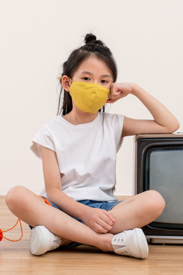 (Pre Order) Yotto Mask 2.0 with Washable Bag in Honey, Kids Size