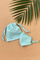 Yotto Mask 2.0 with Washable Bag in Mint, Kids Size