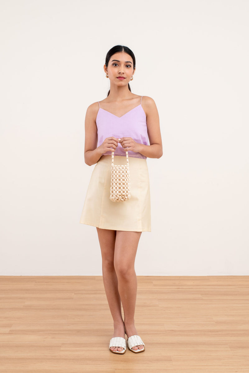 Selena A-line Skirt in Yellow