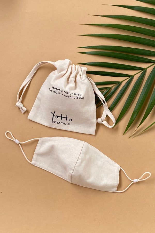 (Pre Order) Yotto Mask 2.0 with Washable Bag in Beige, Kids Size
