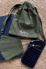 Yotto Mask 2.0 with Washable Bag in Olive, Adult Size
