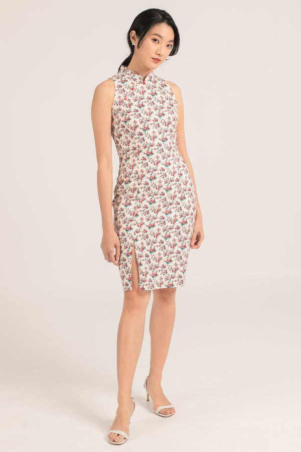 Ashley Floral Printed Cheongsam
