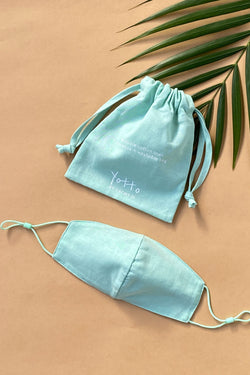 Yotto Mask 2.0 with Washable Bag in Mint, Adult Size