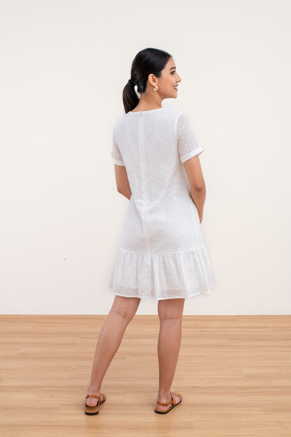 Victoria Broderie Anglaise Ruffle Dress