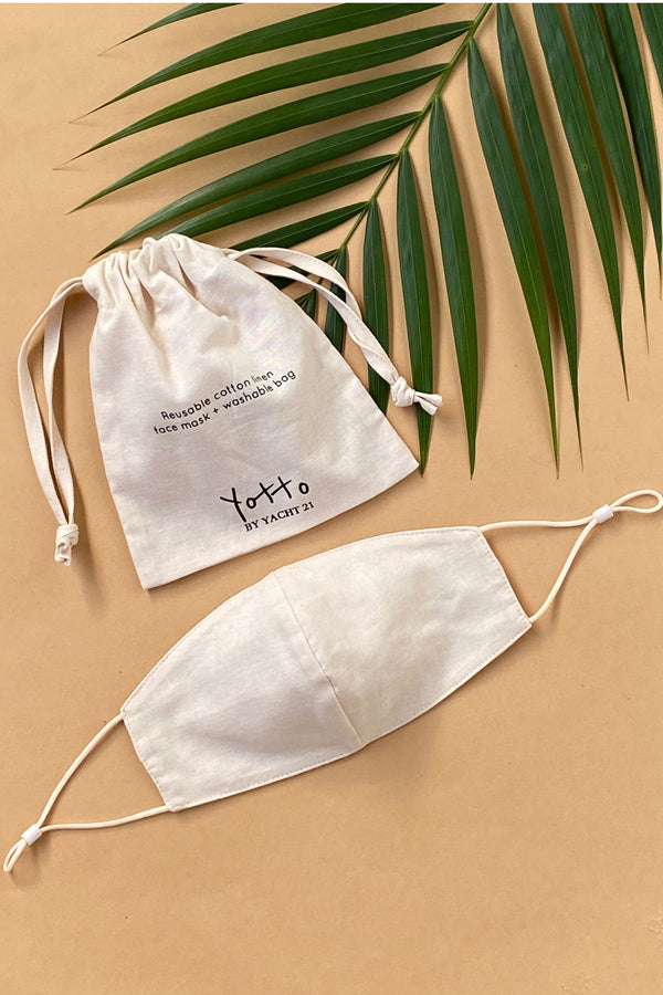 (Pre Order) Yotto Mask 2.0 with Washable Bag in Beige, Adult Size