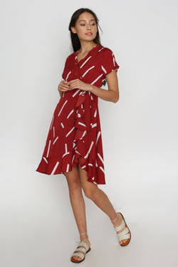 Vina Printed Wrap Dress