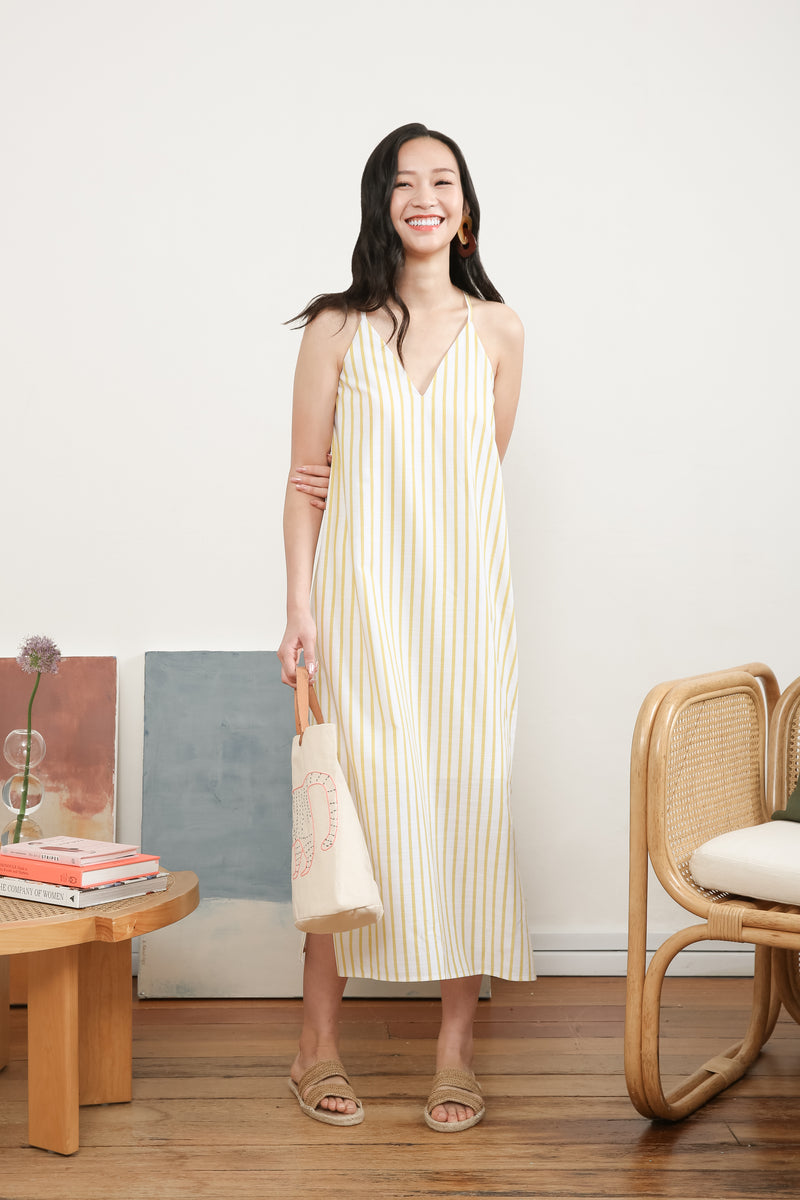 Amber Printed Maxi Slip Dress