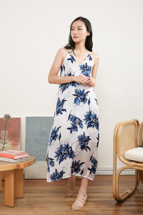 Ivy Printed Maxi Slip Dress