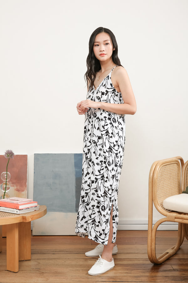 Zahara Printed Maxi Slip Dress