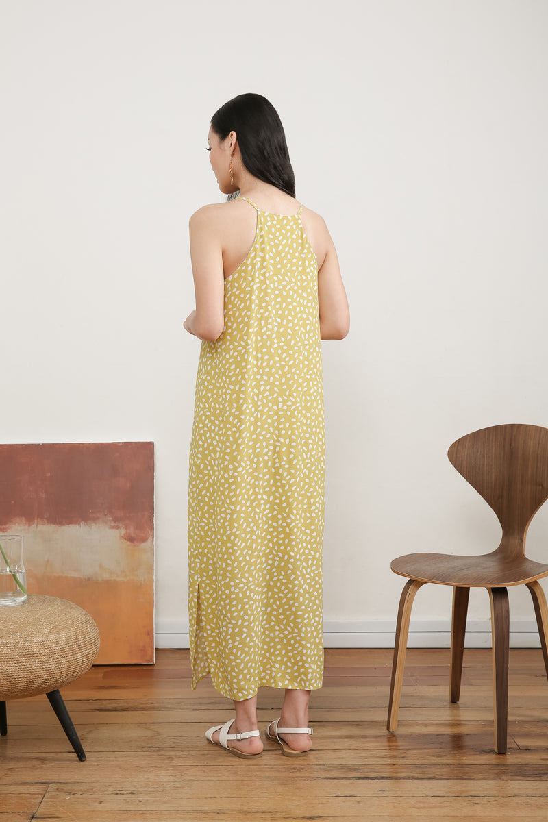 Melina Printed Maxi Slip Dress
