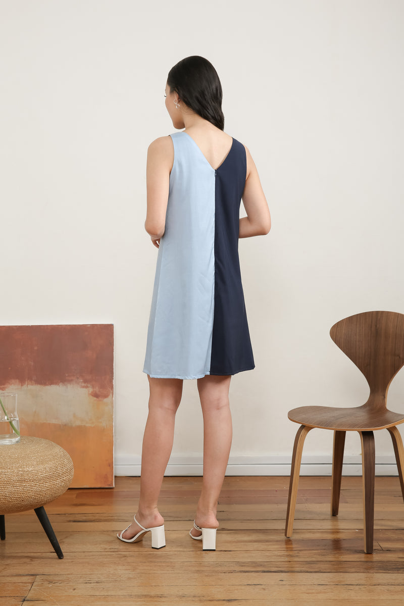 Francesca Sleeveless Colour Block Dress